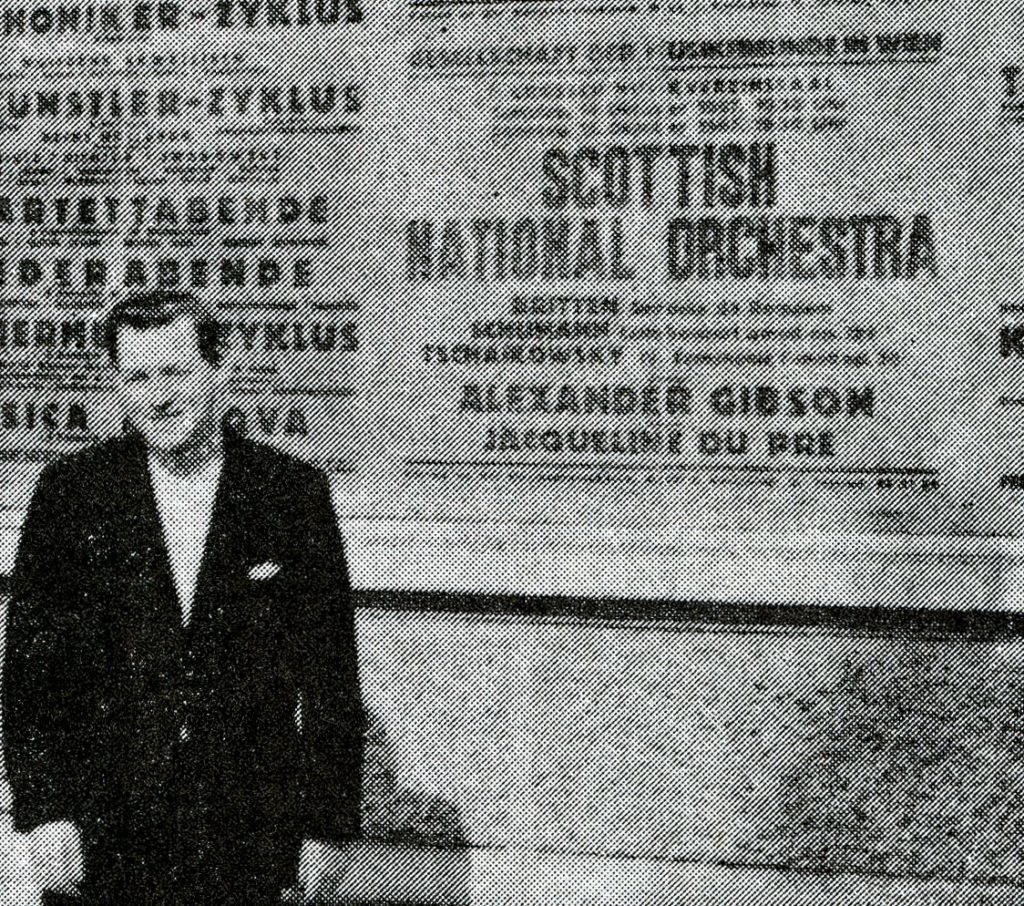 SNO Tour Programme, 1967 - Alexander Gibson in Vienna