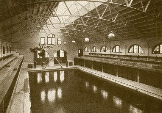 Motherwell Baths swimming pond, 1916