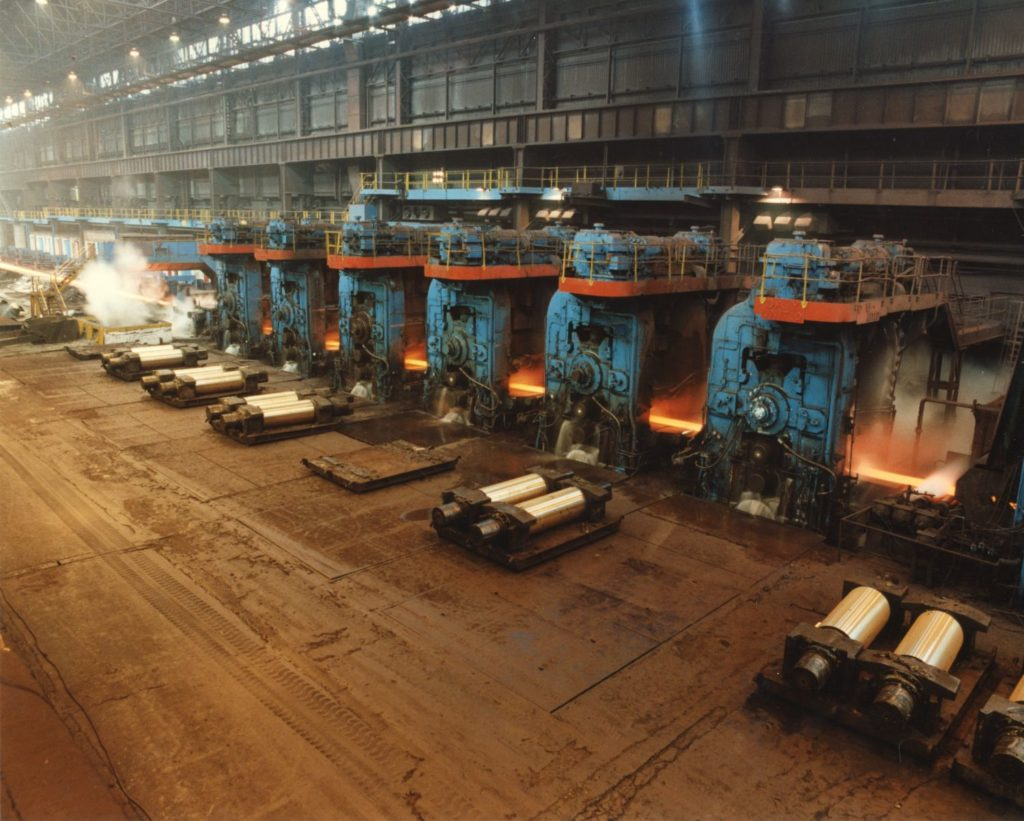 The hot strip steel mill at Ravenscraig, known as 'The Big Mill' was the longest in Europe.
