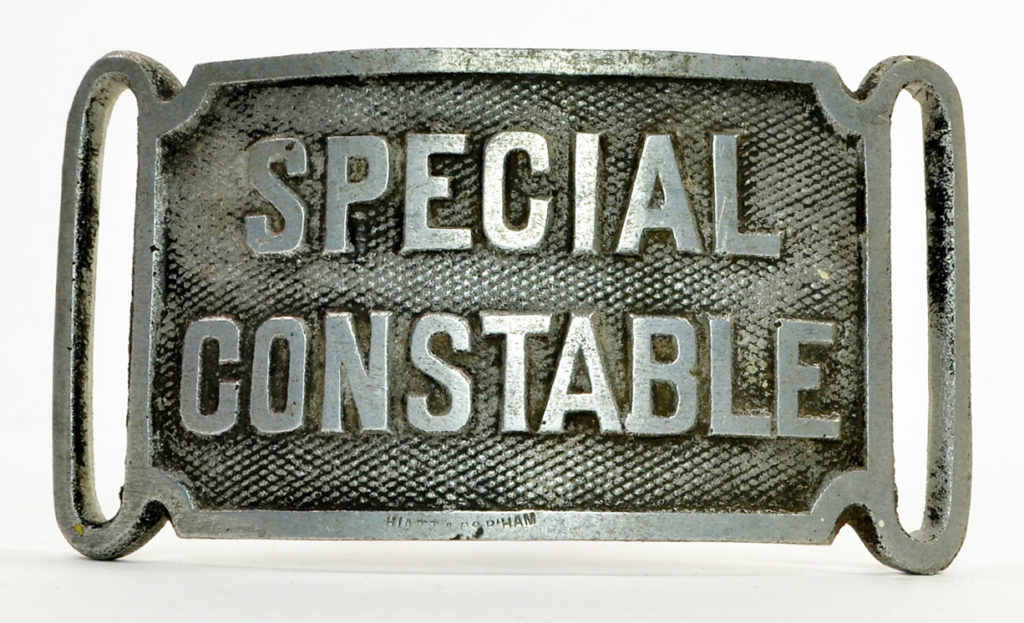 Special Constabulary badge, date unknown