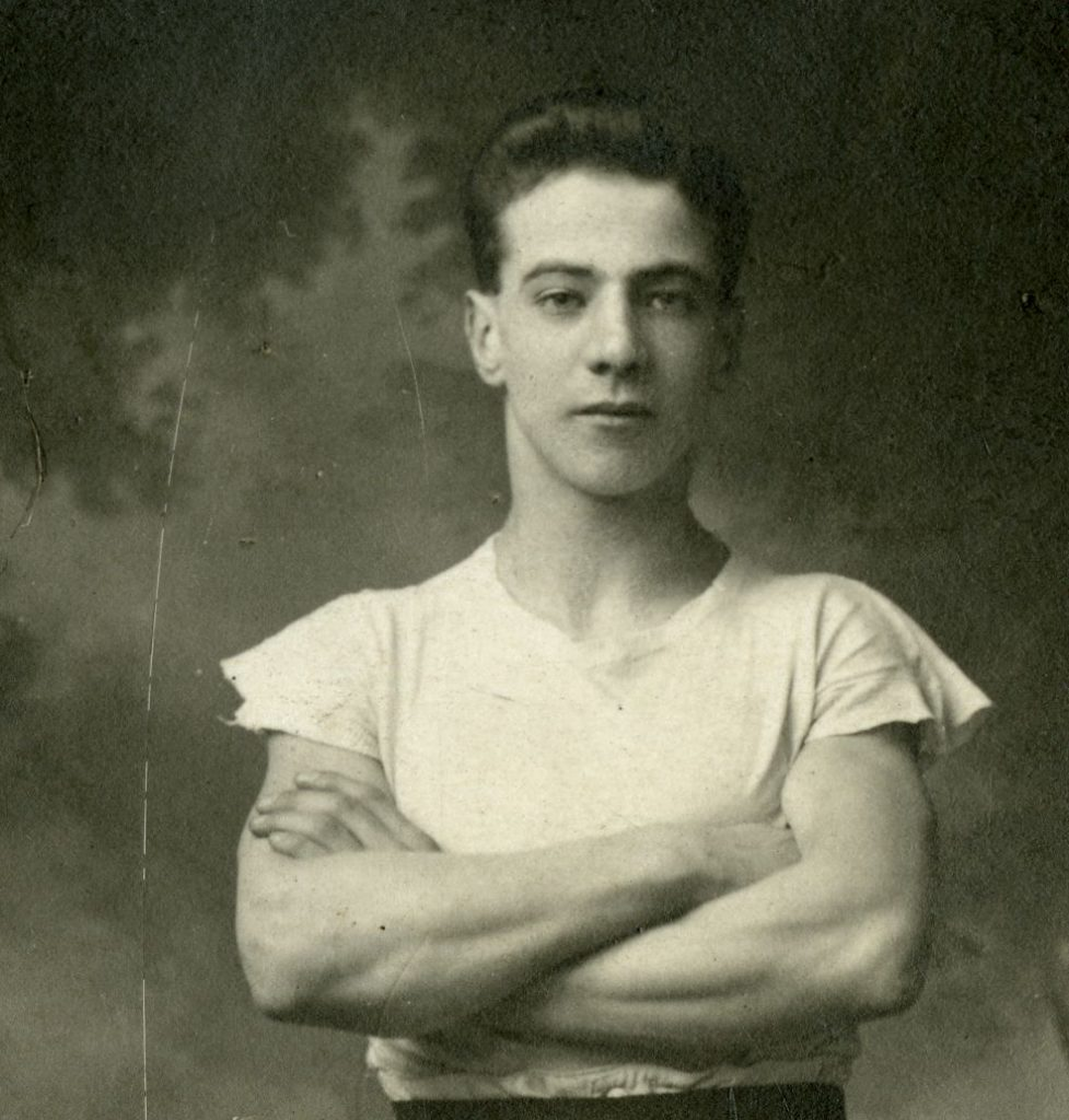 Detail of David Crabb, aged 19, 1923
