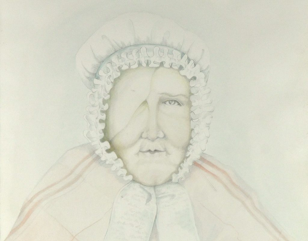 Detail of Janet Hamilton portrait by S. McCann, 1974