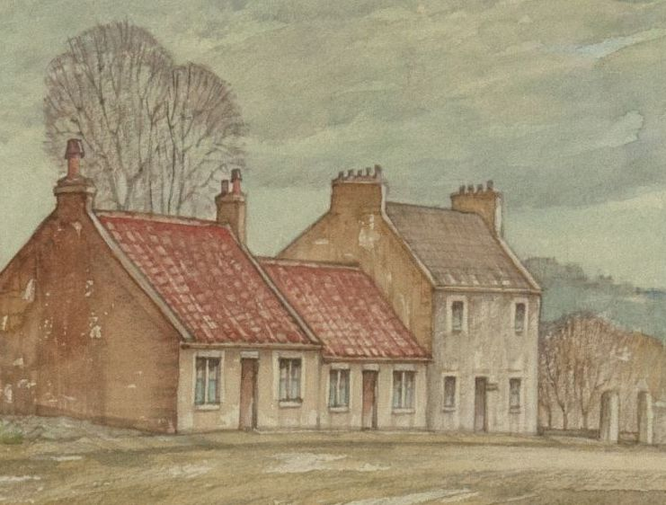 Detail of Weavers' Cottages, Airdrie by Andrew Muir