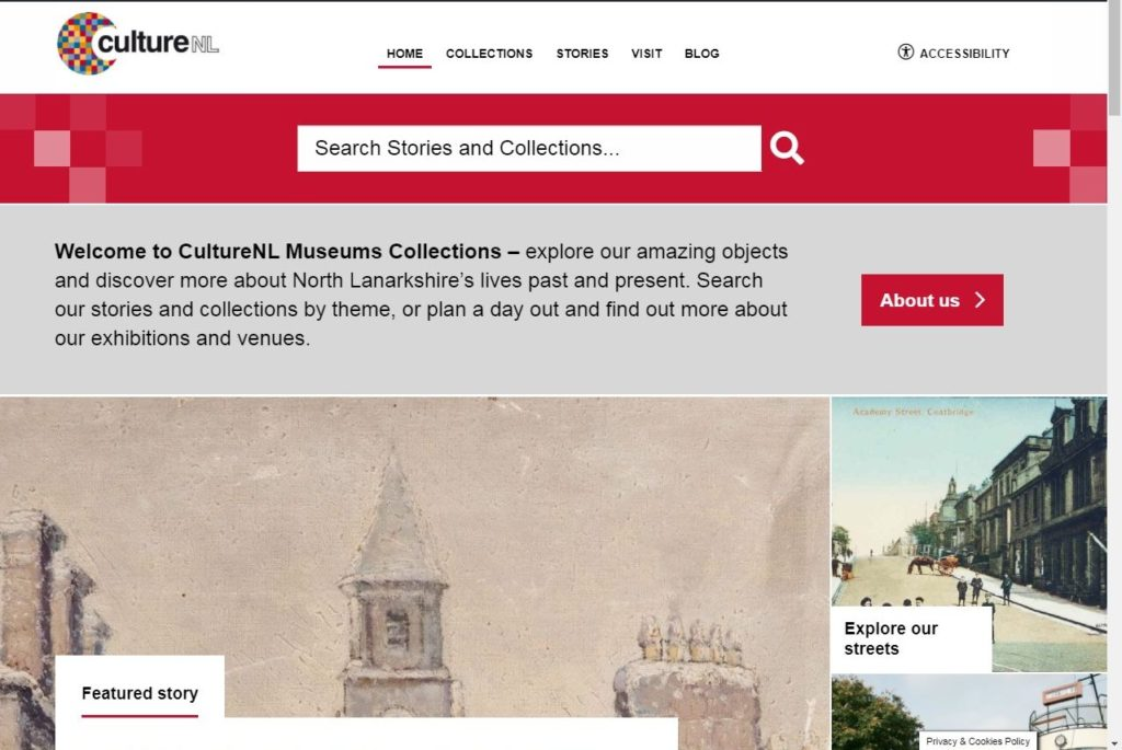 CultureNL Museums Collections website home page