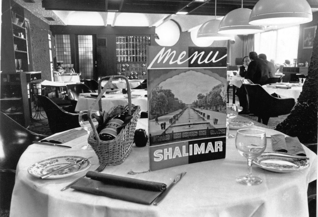 Shalimar Indian restaurant, Motherwell, 1971