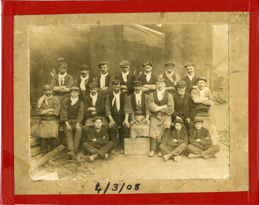 Smelters at the Clydesdale Works, 1908