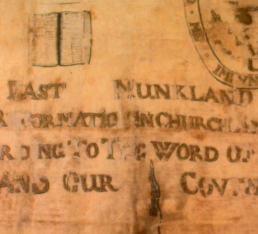 A detail of the East Monkland Covenanter's banner.