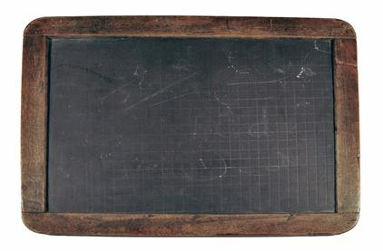 A school pupil's slate.