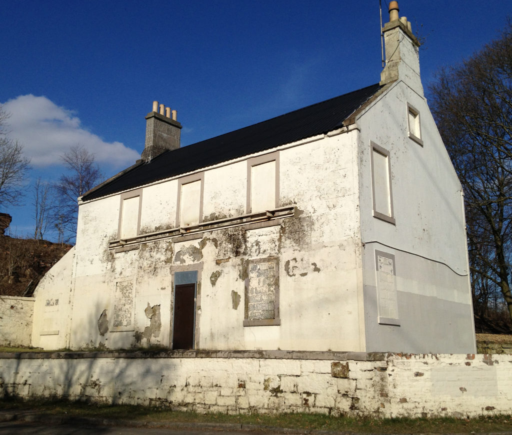 John Baird's house by the canal in Glasgow before it was restored in 2019.