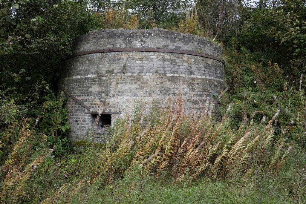 Remains of an ore calcinating kiln at Shotts, October 2019