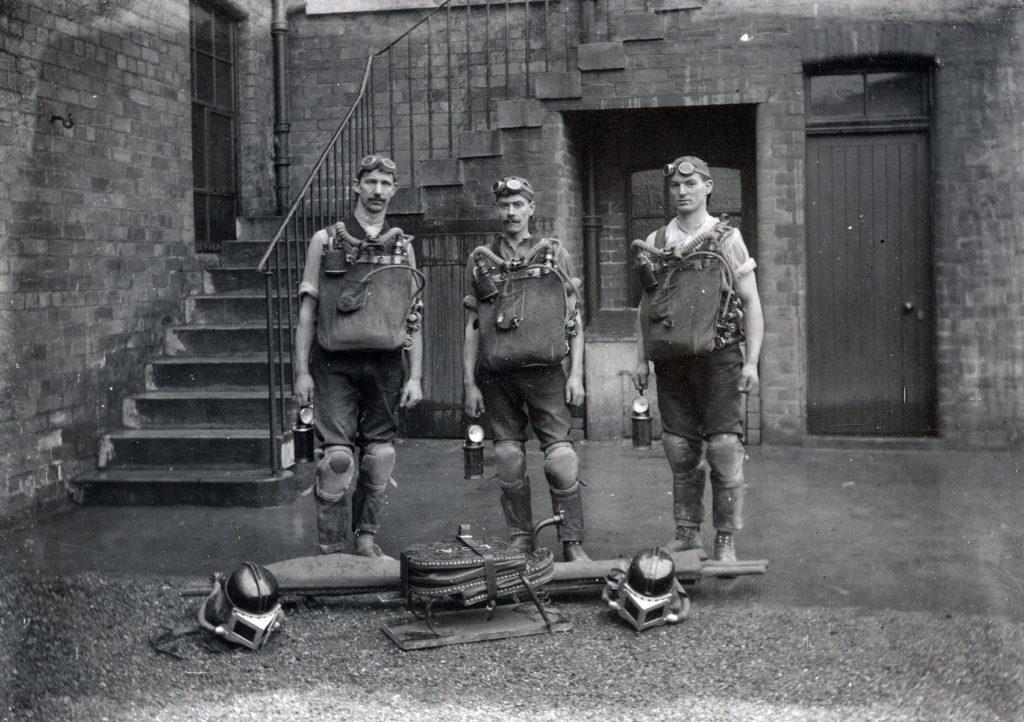 Coatbridge Mines Rescue Brigade around 1915