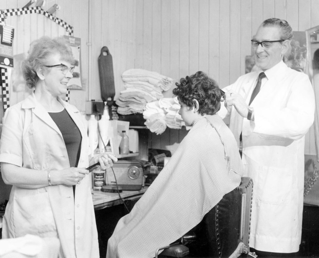 A young boy having his hair styled at the barbers in Kilsyth, c.1967 (credit: Kilsyth Chronicle)