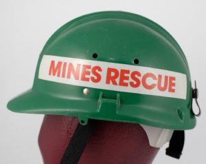 Mines Rescue worker's helmet, probably 1980s