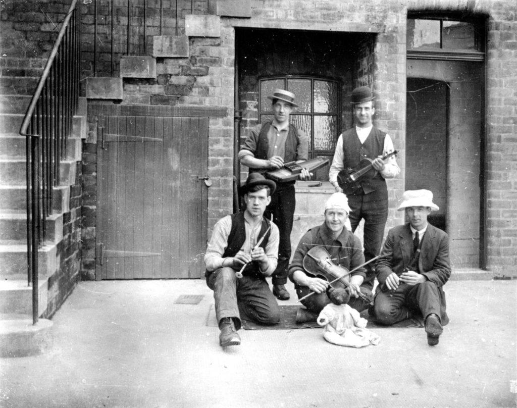 Fun and games at Coatbridge Mines Rescue Centre, around the 1930s