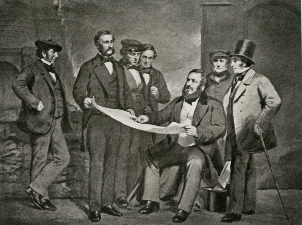 Gartsherrie staff, 1858.