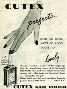 Cutex advert, 1950; courtesy of www.historyworld.co.uk