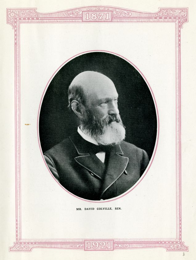 David Colville Snr (around 1811 - 1898), founder of the Colvilles empire.