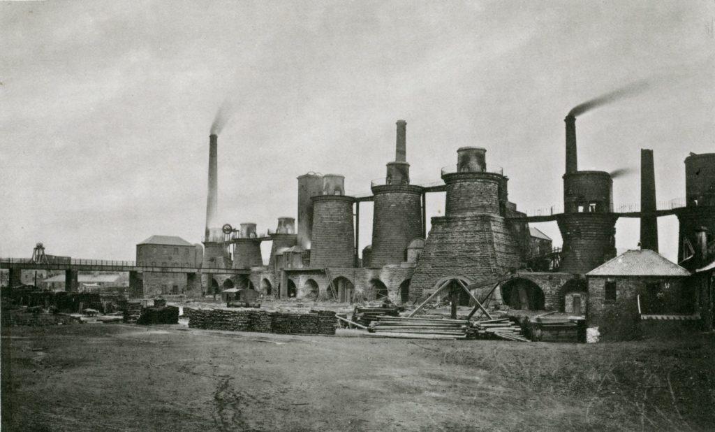 Gartsherrie Iron Works 'Old Side', around 1875.