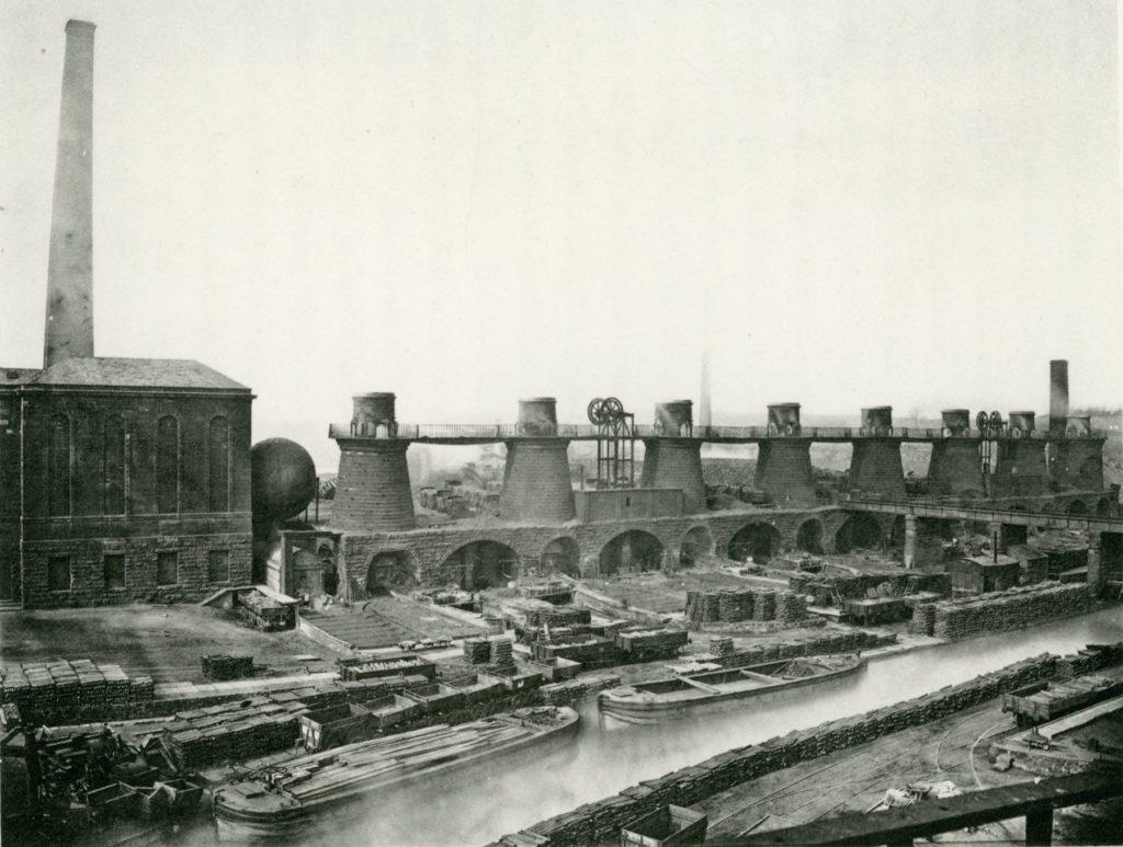 Gartsherrie Iron Works 'New Side', around 1875.