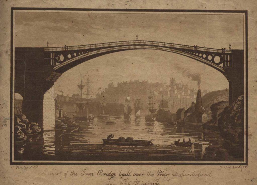 The Second Iron Bridge, 1796. Built at the mouth of the River Weir in Sunderland this bridge was built of cast iron and pushed the material to its limits with a 73 metre span. If engineers were to built bigger and more versatile structures they would need malleable iron - and lots of it!