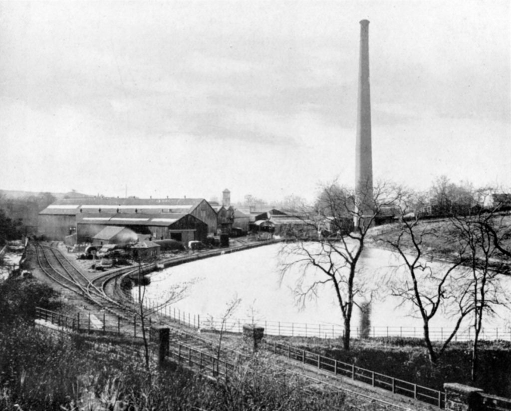 The mill pond at Moffat Mills, around 1920. Papermaking required a lot of water.