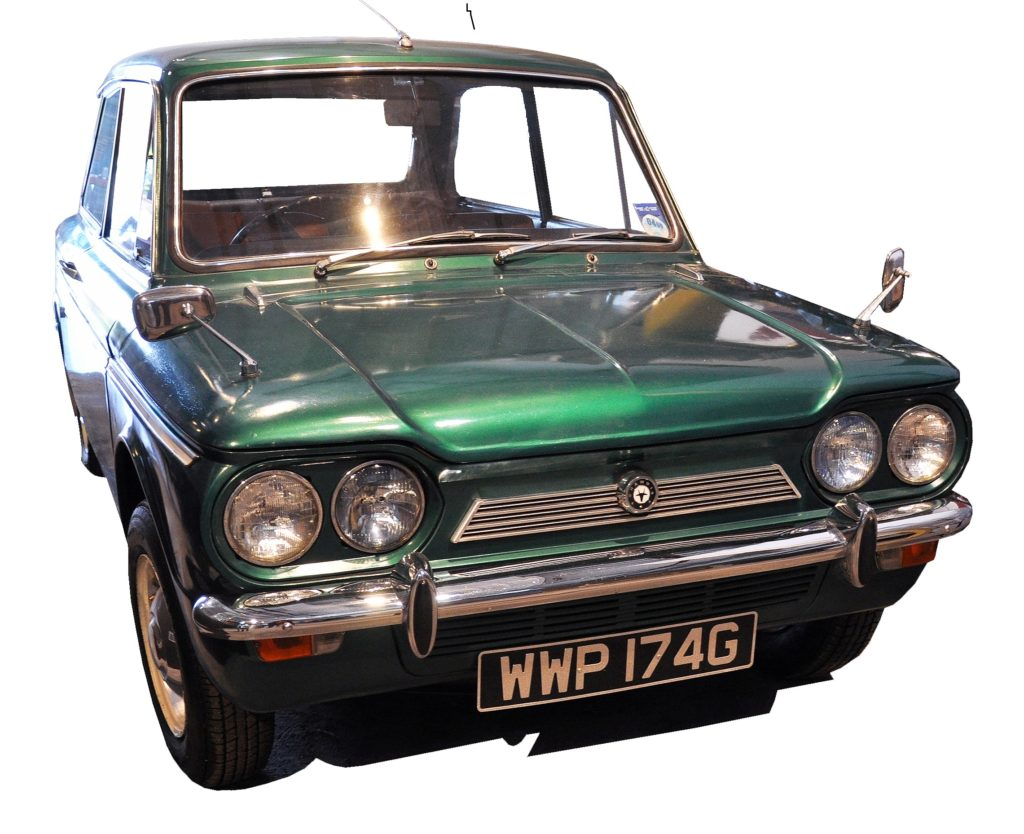 A 1965 Singer Chamois which is on display at Summerlee Museum, Coatbridge.