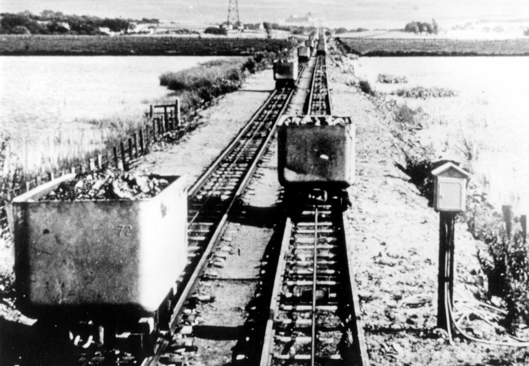 The endless-rope haulage at Kingshill Colliery near Annathill, around 1960.