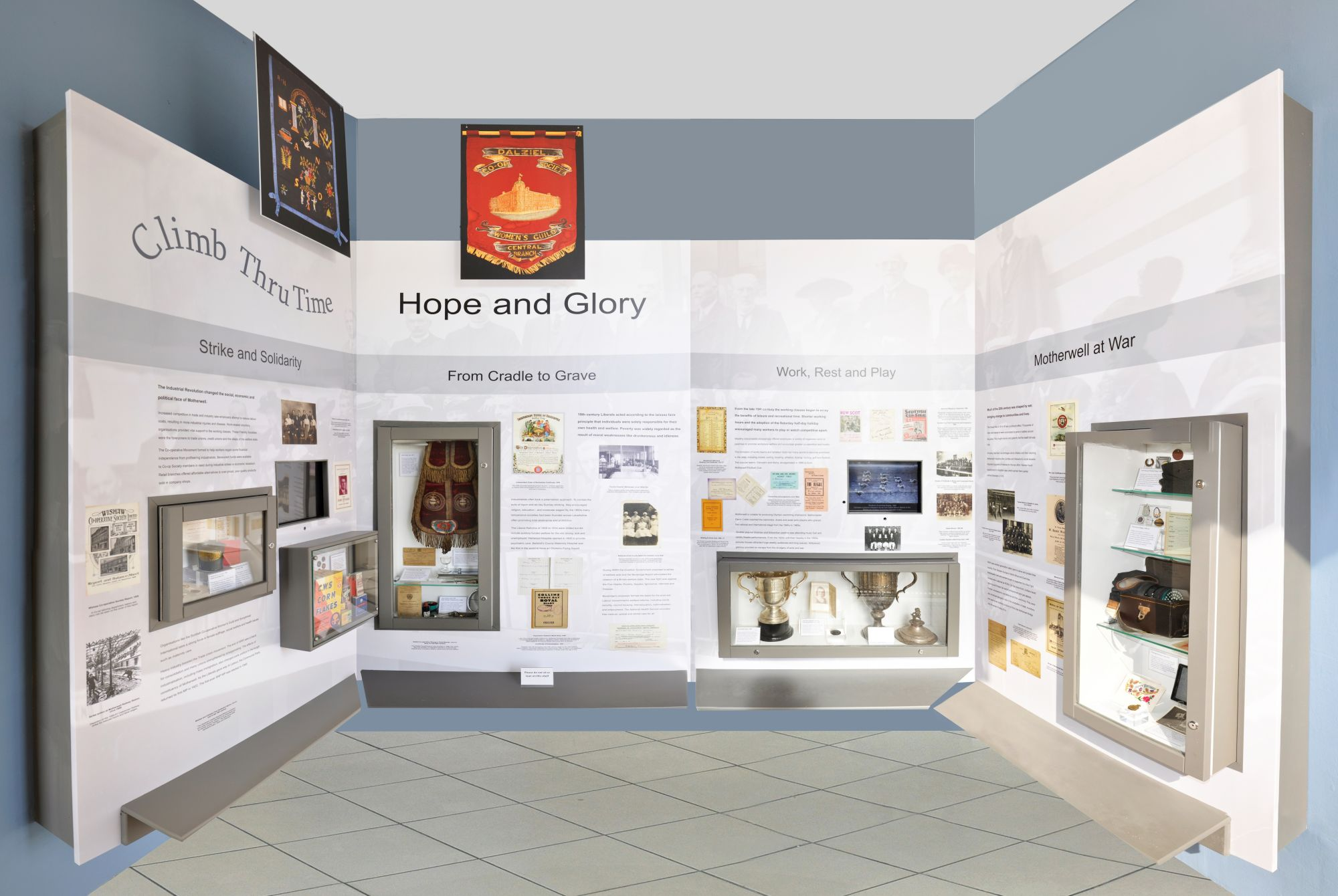 Photograph showing Climb Thru Time Level 2: Hope and Glory exhibit
