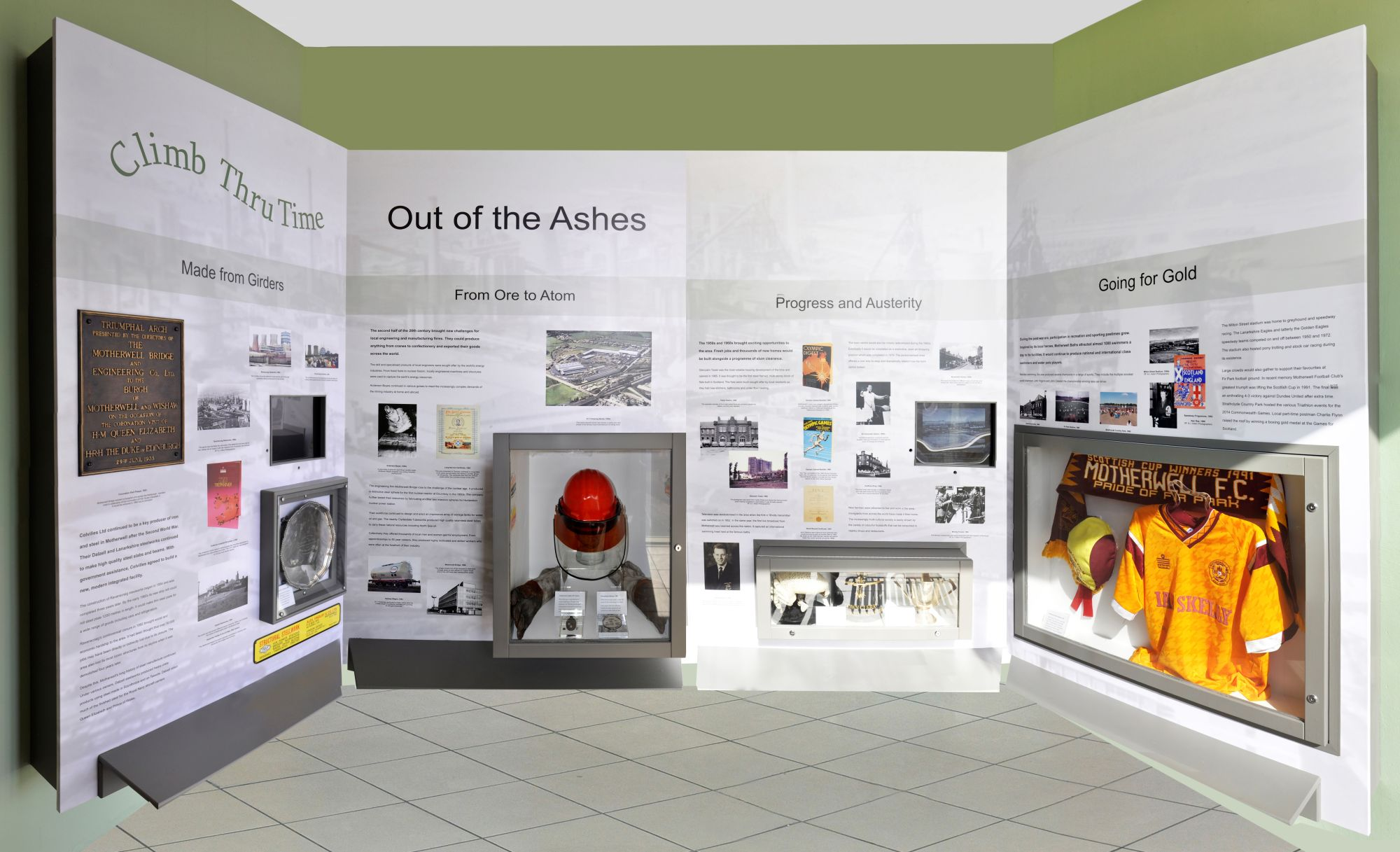 Photograph showing Climb Thru Time Level 3: Out of the Ashes exhibit