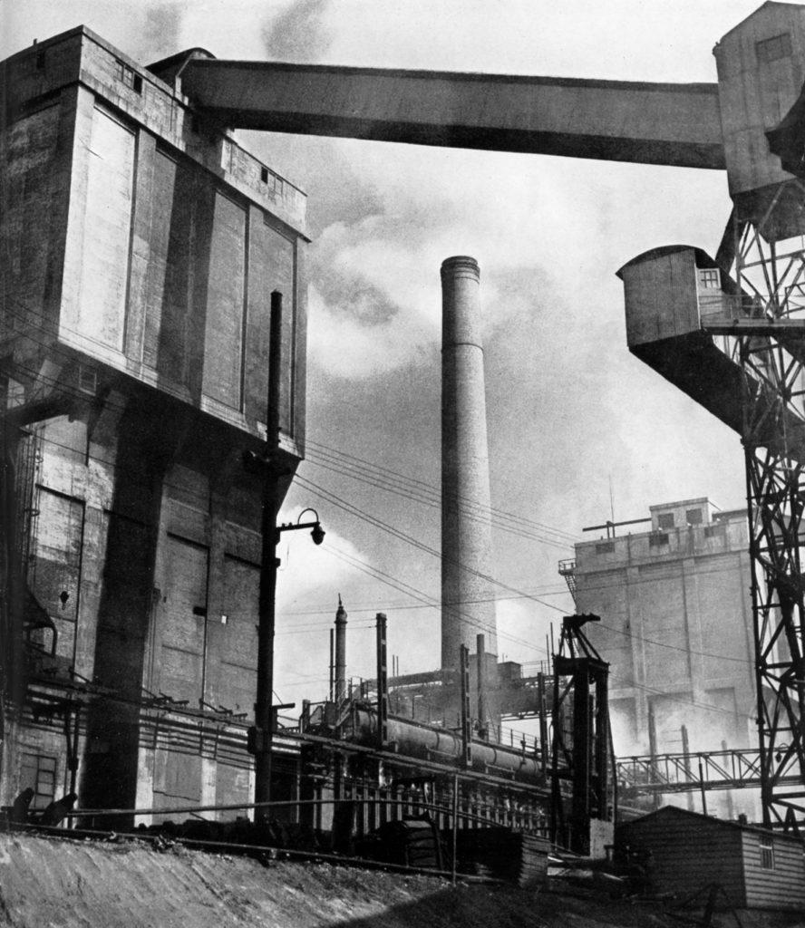 Colvilles' Clyde Iron Works by Adolf Morath, around 1954.