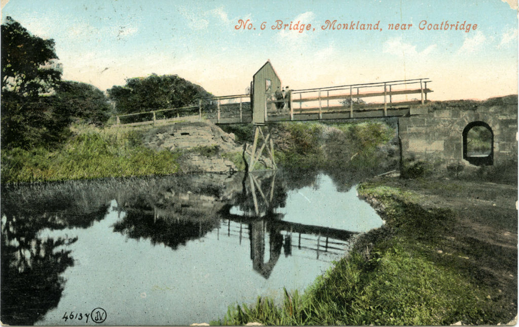 'No.6 Bridge' on the Monkland Canal, possibly on the Drumpellier estate, around 1900.