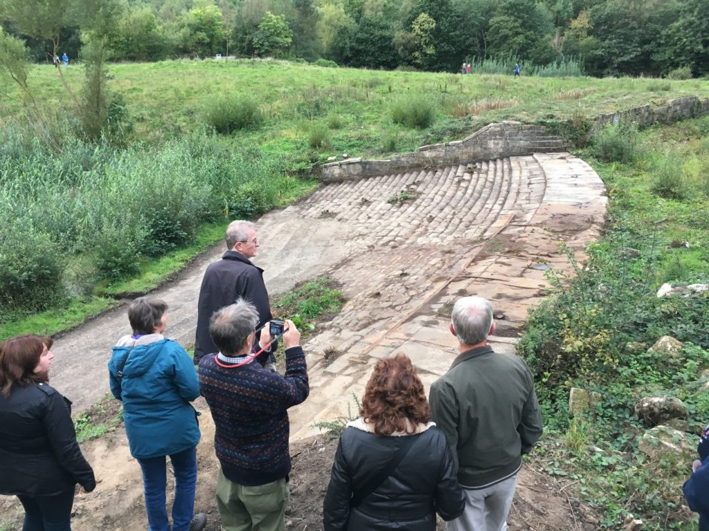 A public tour of the preserved remains of Ambrose Crowley's ironworks near Newcastle-upon-Tyne.