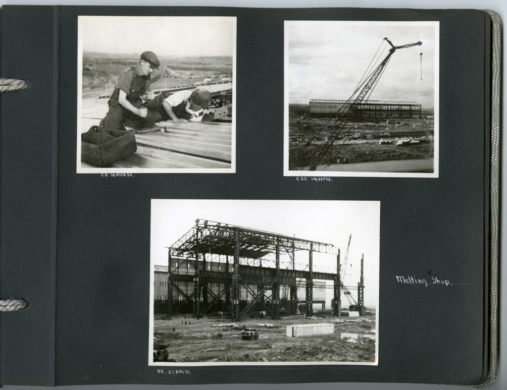 These photos show the melting shop at Ravenscraig under construction in 1955.