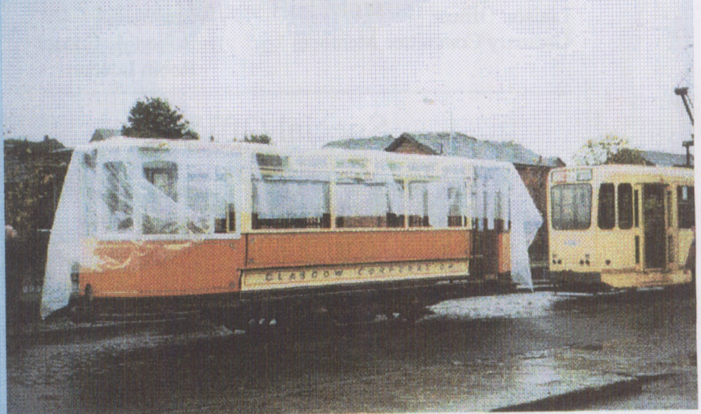 1017 moving from Bay 2 (Now the Café) In the main Exhibition Hall to the Tram Depot February 2002.
