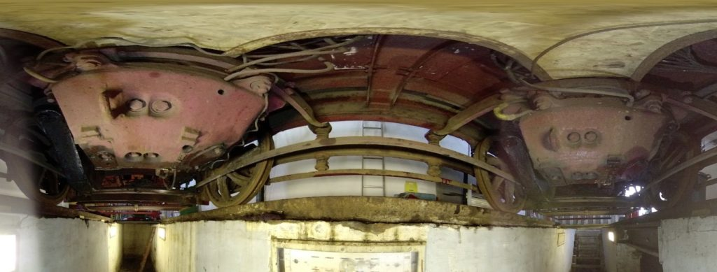 Underneath Lanarkshire 53: the view of the traction motors.