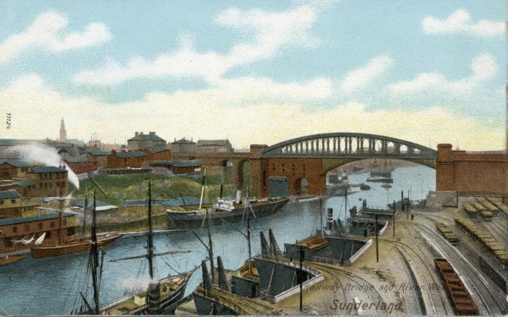 Coal drops at Sunderland, around 1900.