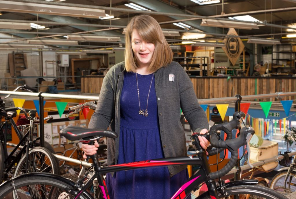 Bike for Good promotes cycling in Glasgow. We visited their Glasgow West hub on Haugh Road, which at the time was called the Glasgow Bike Station. They sell refurbished bikes, have a workshop you can use, provide advice, training and advocacy to promote cycling in the city.