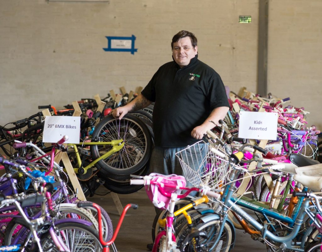 Craig worked at IAmBikes, a shop selling second-hand and refurbished bikes in Cumbernauld.