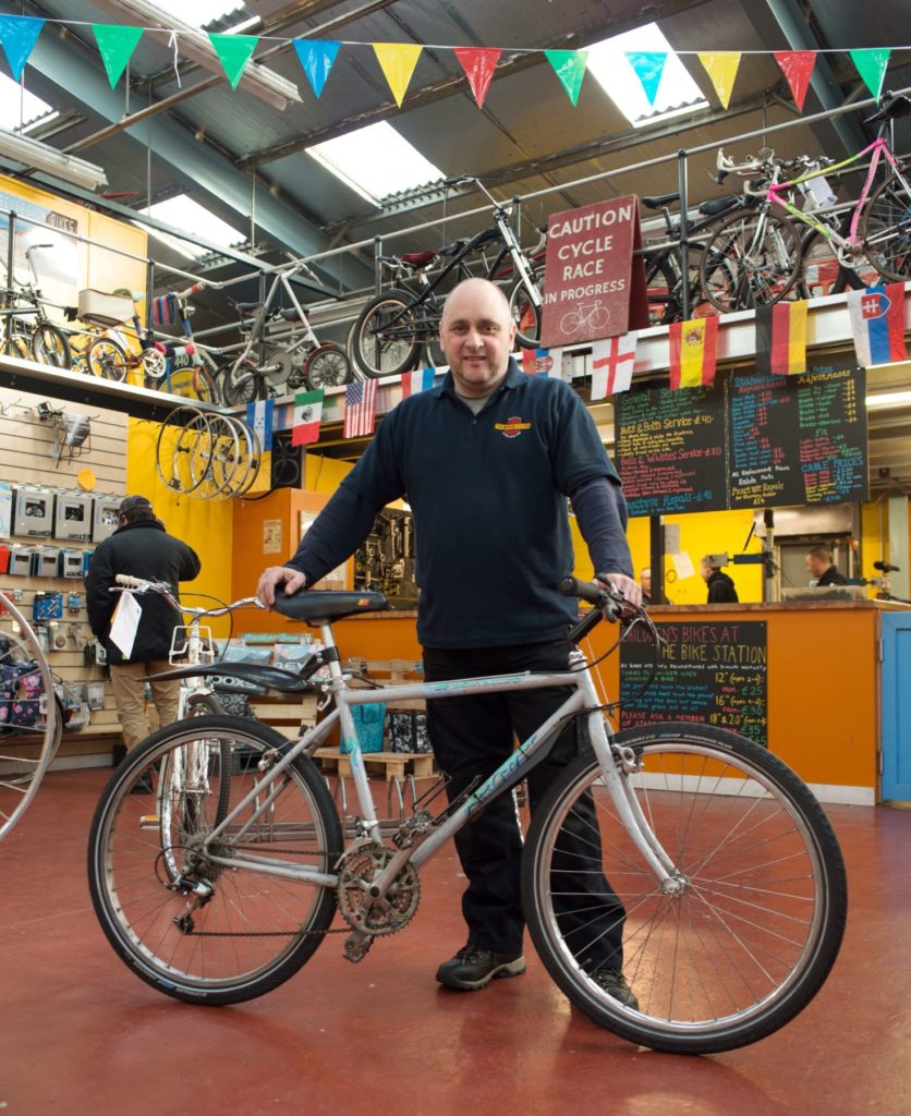 George was Head Mechanic at the Bike Station in Glasgow.