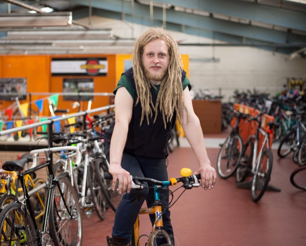 Karolis worked as a supervisor at the Bike Station in Glasgow, running a workshop of bicycle mechanics.