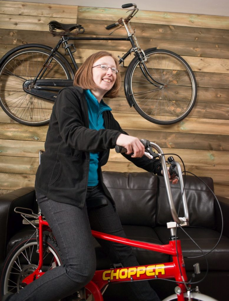 Morag worked at IAmBikes, a cycling charity in Cumbernauld, where she ran the 'Cycle to the Moon' campaign to get more people cycling.