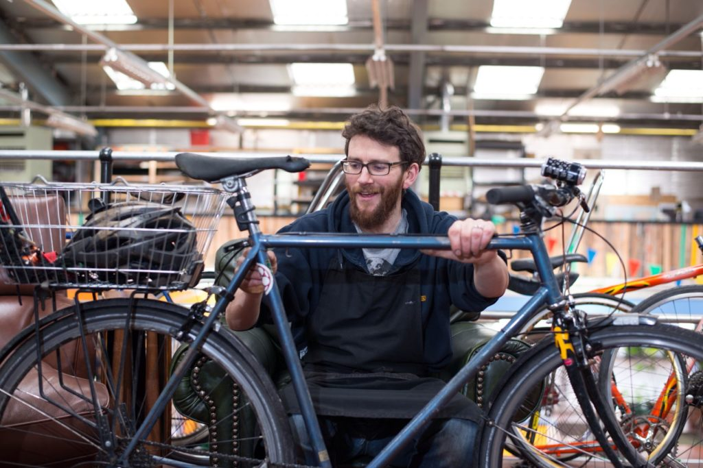 Neil worked at the Bike Station in Glasgow.