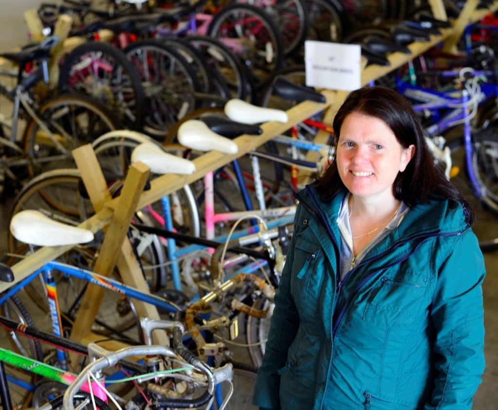 Rosemary was a customer we met at the IAmBikes shop in Cumbernauld.