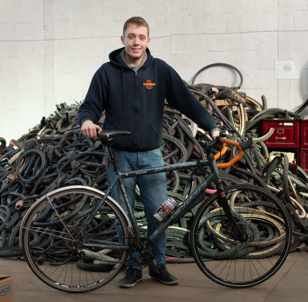 Steven worked at the Bike Station in Glasgow.
